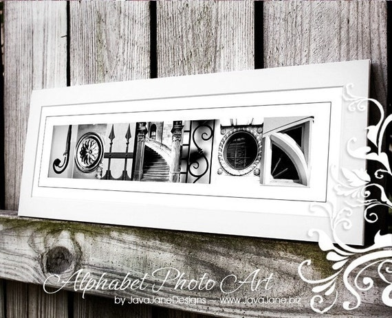 alphabet photography custom name frame print by