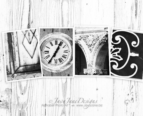LOVE spelled out in individual 4x6 Alphabet Letter Photos (Set 2)