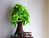 Walnut - Felt Tree. Home decor