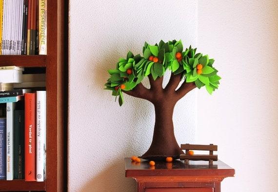 Tangerine's Tree - Felt Tree