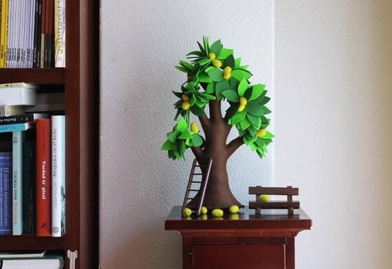 Lemon tree - Felt Tree, Home decor,