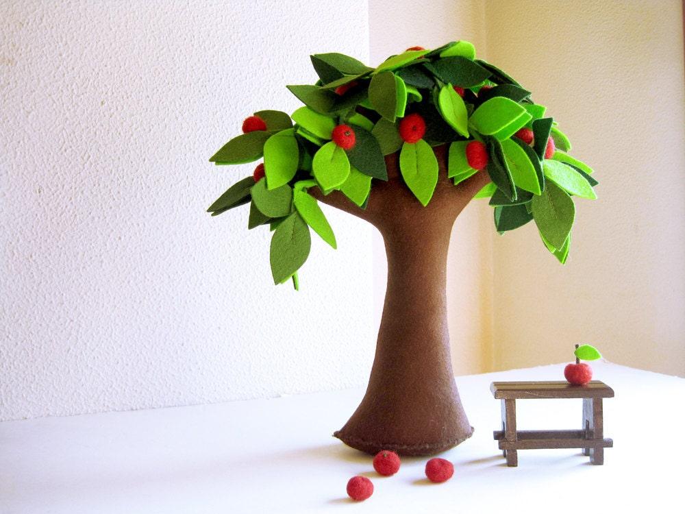 Newton S Apple Tree Felt Tree Fiber Art Soft