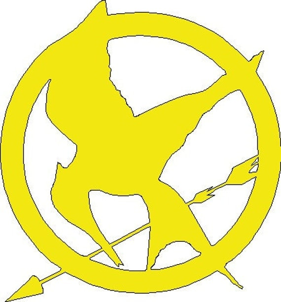 Mockingjay pin decal from The Hunger Games