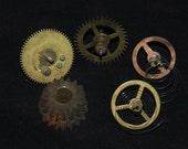 Steampunk Supplies Large Watch Clock Parts Cogs  gears wheels Antique vintage g95