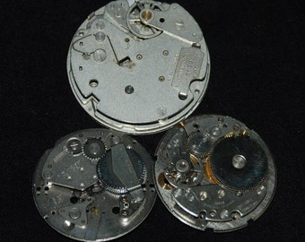 Vintage Antique Industrial Looking Watch Movements Steampunk Altered Art Assemblage
