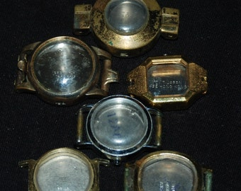 Vintage Antique Steampunk Watch Cases Altered Art Industrial  Ca16