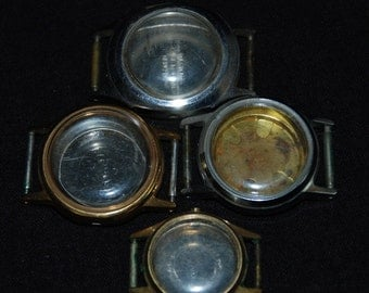 Vintage Antique Steampunk Watch Cases Altered Art Industrial CA48