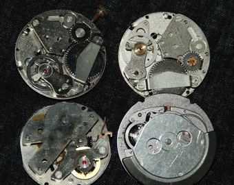 Vintage Antique Industrial Looking Watch Movements Steampunk Altered Art Assemblage IM43