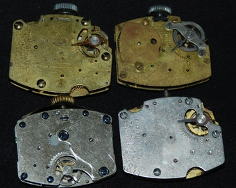Vintage Antique Industrial Looking Watch Movements Steampunk Altered Art Assemblage ID30