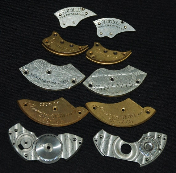 Destash Steampunk  Watch Clock Parts Movements Plates  Grab Bag AP77