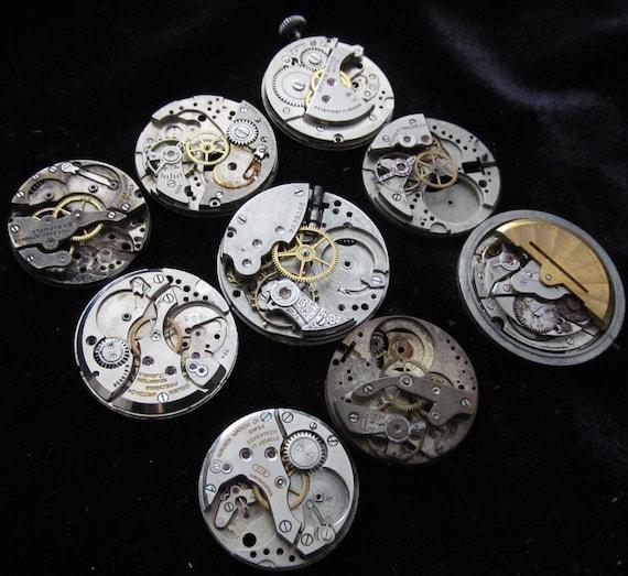 Destash Steampunk Watch Parts Movements Cogs Gears  Assemblage U 65