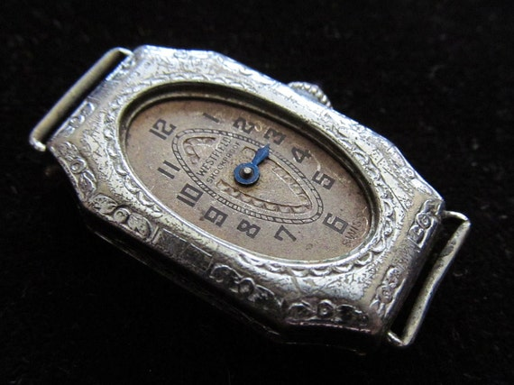 Antique Ladies Vintage Watch Movement and Case Steampunk Altered Art Assemblage TQ 58