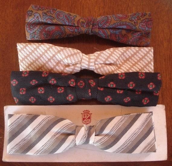 vintage mens clothing retro mcm clip bow ties