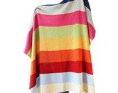 Rainbow Stripe Blanket (3 Panel)