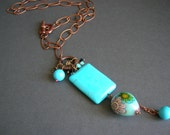 Free Shipping - Turquoise necklace