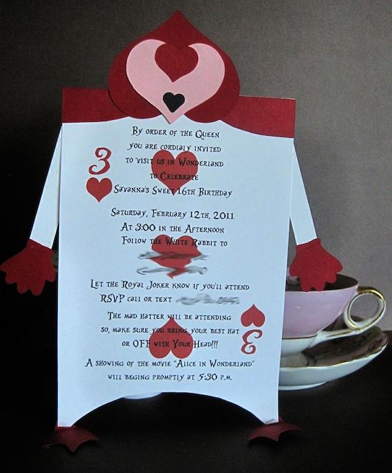 Alice In Wonderland Themed Wedding Invitations as luxury invitation ideas
