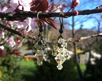 Swarovski Cluster Earrings - can be made in any color/metal