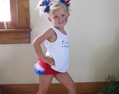 BLOW OUT SALE 75% Off - Little FireCracker Tank and Red-White-Blue ruffle bloomers - Perfect for your 4th of July Princess - sizes 0-3t