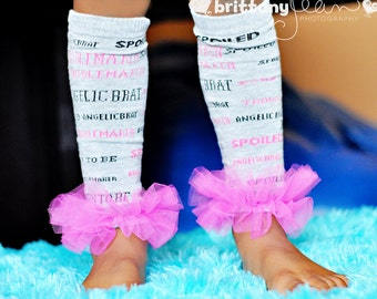 Girls Ruffle Tutu Leg Warmers - Perfect for Birthday, Costume, Photo Prop, Dress up, Fits Girls 6M-6X - Born to be Spoiled