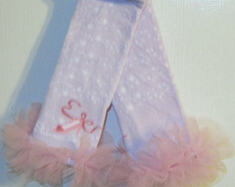 Cinderella Pink Ruffle Tutu Leg Warmers - Perfect for Birthday, Costume, Photo Prop, Fits Girls 6M-6X