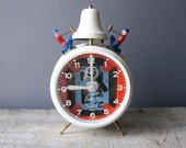 West Germany Jerger Alarm Clock.  Busy Boy Alarm. Works Great