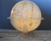 GIANT 1960s Light Up National Geographic World Globe
