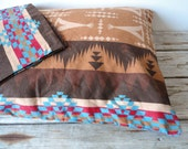 Pair of Indian Teepee Pattern Pillow Cases