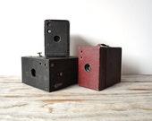 Antique Kodak Brownie Leather Camera Box. 1920s - 1930s.