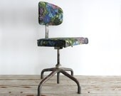 An Artist's Chair.  Vintage Upholstered Stool