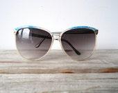 Retro Clear Frame Cat Eye Style Sunglasses