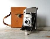 Polaroid Land Camera Model 80 and Leather Case