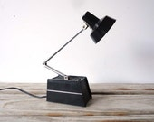 Black and Chrome Tensor Style Desk Lamp