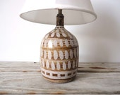 Handmade Pottery Lamp