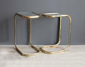 Glam Brass Cigarrette Side Table - LAST ONE