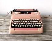 1/10   r e s e r v e d Vintage Pink Smith-Corona Silent Super Typewriter