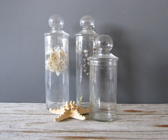 Tall Glass Jar with Domed Lid