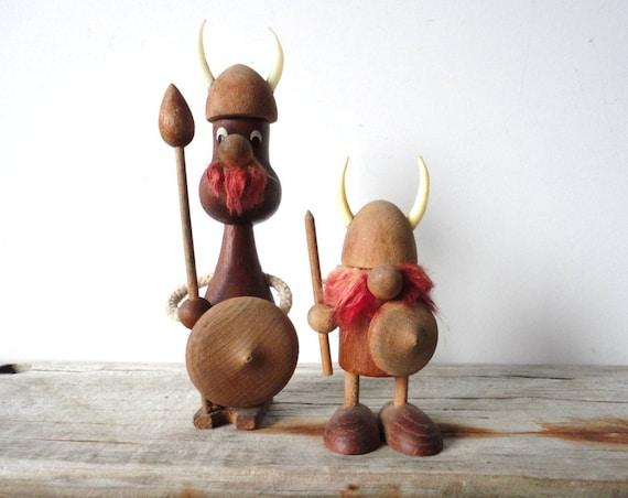 Wood Viking Pair from Denmark
