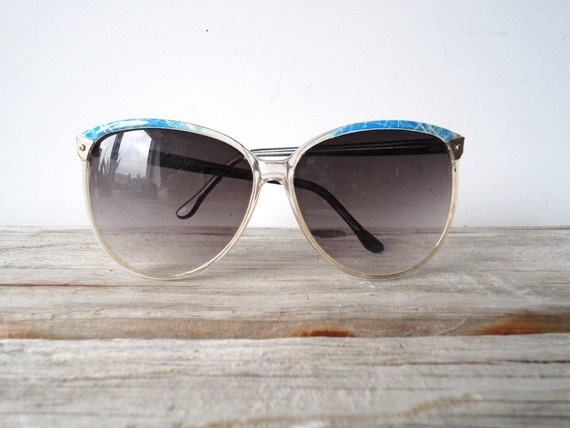 Retro Clear Frame Cat Eye Style Sunglasses
