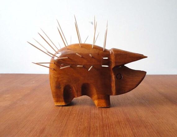 Modern Prickly Pig.  Toothpick Holder