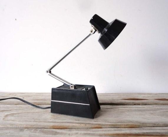 Black and Chrome Tensor Style Desk Lamp