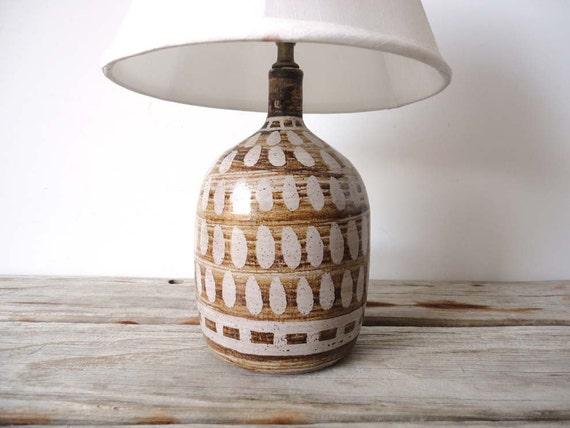 Handmade Pottery Lamp