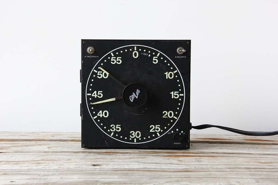 Vintage Industrial Dark Room Timer with Wall Mount