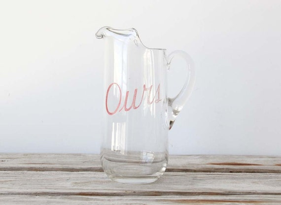 """Pink """"Our"""" Serving Drink Pitcher"""