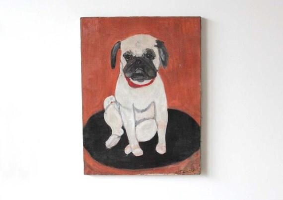 Large Original Vintage Dog Portrait