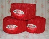 Red Scalloped Crepe Paper Streamers