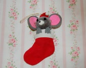 Vintage Mouse Ornament -1