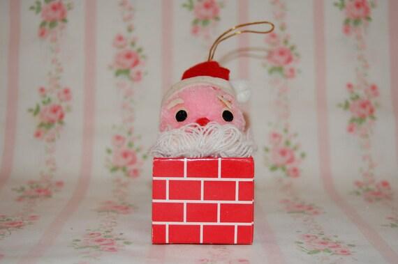 Vintage Santa in a Chimney Ornament