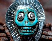 Day of the Dead Sterling Silver Ring