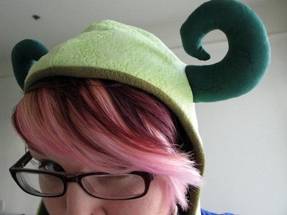 Green Textured Monster Hood