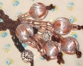 Funky Baubble Cord Bead Spray Necklace